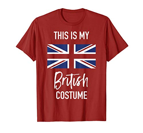 This is my British Costume T-Shirt - Funny Halloween Tee ()