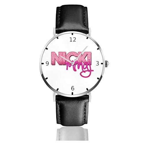 Men's Fashion Minimalist Wrist Watch Nicki Minaj Leather Strap Watch