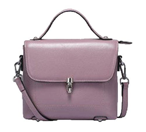 Handbag Womens Leather Shoulder Messenger Bag Square Bag European And American Fashion Casual (color: Gray) Purple