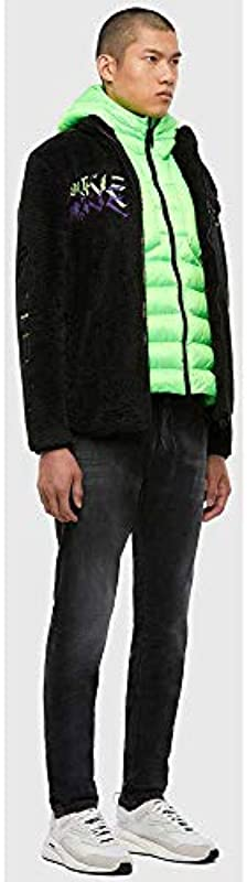 Diesel Męskie Krooley-Y-NE L.32 Sweat Jeans, 02 Black Denim, 26: Odzież
