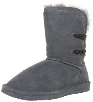 BearPaw Womens Abigail Boot Charcoal Size 5
