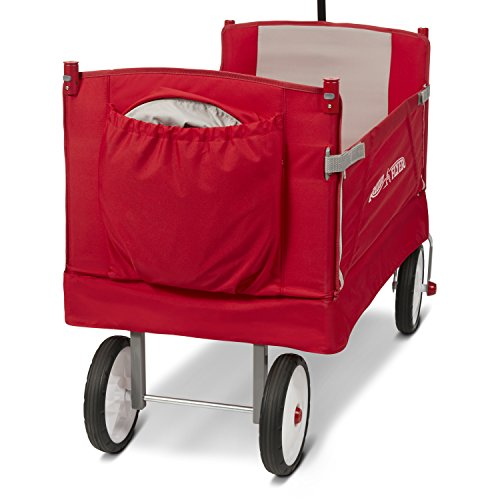41ugrosUkGL - Radio Flyer 3-In-1 EZ Folding Wagon with Canopy for kids and cargo