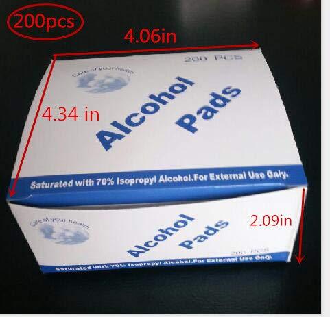 (Alcohol Prep Pads Sterile Alcohol Wipes Antiseptic sterilized Wipes 200pcs/box (200pcs/box))