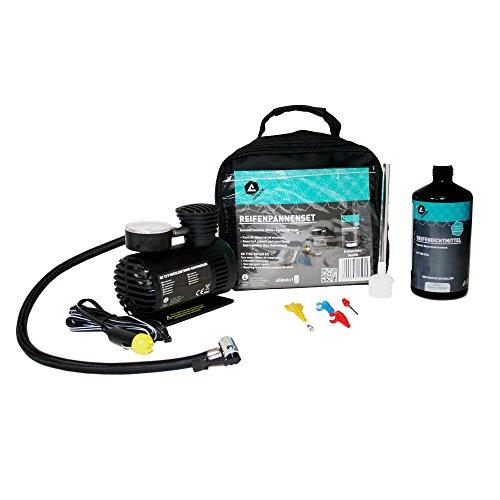 AUTONIK 125010 Reifen-Pannenset, Bestehend aus Reifendichtmittel, Kompressor und Zubehör
