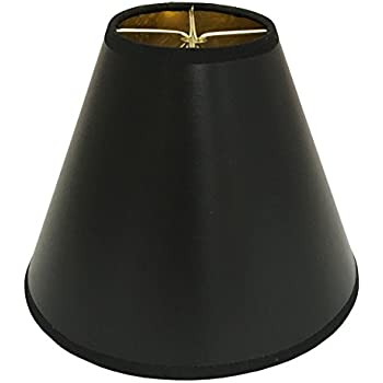Royal Designs 8 Quot Black Parchment Hard Back Lamp Shade With