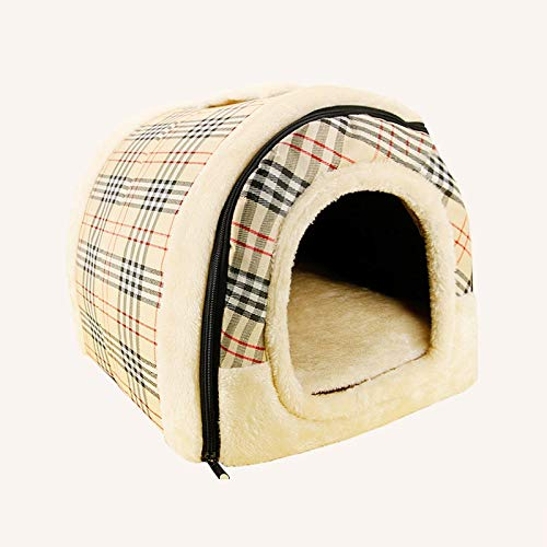 B  S B  S Pink day Pet Nest Kennel Removable And Washable Small And Medium Dogs Pet Nest Cat Litter Dog House Bite Waterproof Four Seasons Universal (color   B , Size   S)