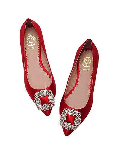 Trabajo Cn39 Zapatos Punta Bailarina Zq 5 Champagne Sat¨¦n Cn40 Y Vestido Oficina Mujer De rojo Uk6 Puntiagudos Eu39 5 Plano Planos Cerrada Casual us8 us8 Uk6 Tac¨®n Red Cn3 1qx7qw