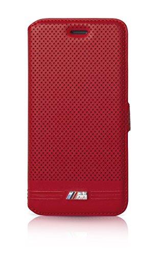BMW BMFLBKP6LMPERE Sammlung geprägte Buch Typ Linien Schutzhülle für Apple iPhone 6 Plus/6S Plus (Größe: M) rot