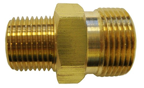 Ultimate Washer High Pressure 22MM Adapter Fitting x 3/8-Inch Brass Male Pipe Thread 5800 PSI Rating Compatible for Troybuilt, Excell, Devilbis, Lasco 60-1057 Models
