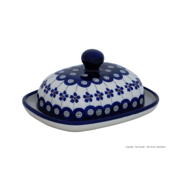 Bunzlauer Butter Dish Small Oval 1/2 Butter Dekor 166 a