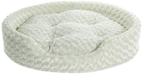 NAP Pet Bed X-Large Ultra Plush Oval Pet Bed, Light Khaki