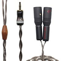 O2-F 3.5mm (1/8 Inch) TRS to Dual XLR 3 Pin Male Stereo Breakout Cable. OCC Wire. O2-F (4.92ft (1.5M))