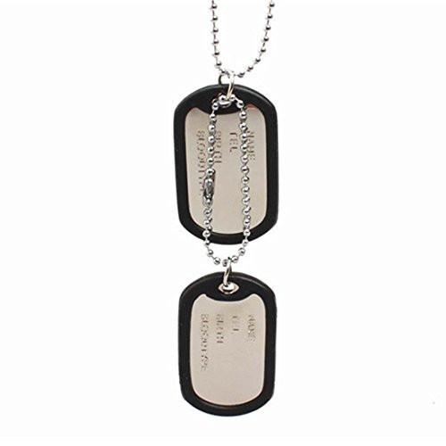 New-Style-Dog-Tags-Sweater-Chain-Men-Pendant-Necklace-Accessory-White