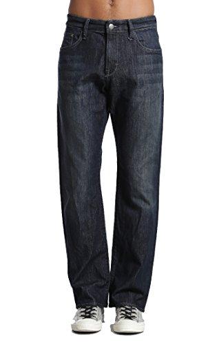 Mavi In Worn Jeans (MAVI Men's Matt Relaxed Straight Leg In Deep Stanford 0033711138 (Waist 32 Length 32))