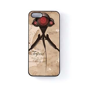 Tripod Victorian Diagram Carcasa Protectora Snap-On en Plastico Negro para Apple® iPhone 5 / 5s de Nick Greenaway + Se incluye un protector de pantalla transparente GRATIS