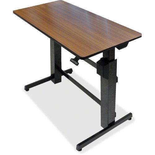 """Ergotron, Workfit-D Sit-Stand Desk Table Office Rectangular Walnut """"Product Category: Supplies & Accessories/A/V Carts & Stands"""""""