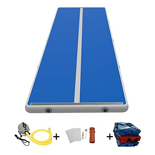 Sinolodo Inflatable Air Track 8 inches Thick Gymnastics Tumbling Mats for Kit Inflatable Gym Air Mat...
