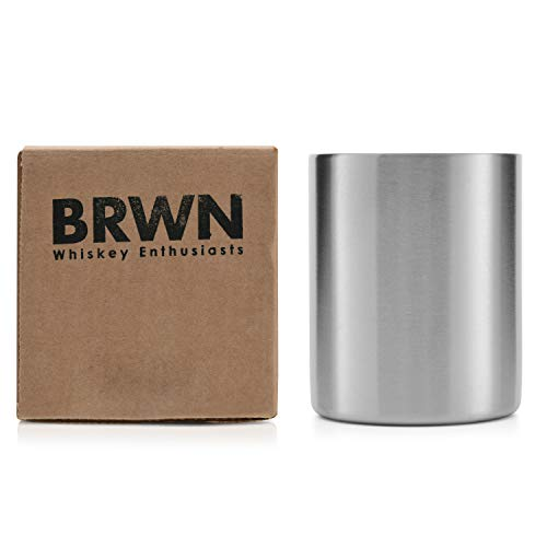 (Stainless Steel Whiskey Tumbler - Low Ball Stainless Steel Insulated Whiskey Glass)