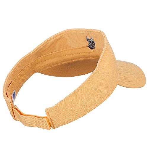 Schnauzer Head Embroidered Pro Style Cotton Washed Visor - Mango OSFM by e4Hats.com (Image #2)