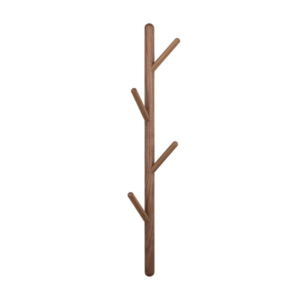B Feifei 4 Hooks Wall-Mounted Bamboo Tree Branch Coat Hook Clothes Hanger Rack Holder, 2 colors (color   A)