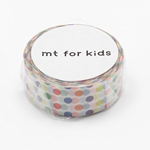 MT Japanese Washi Masking Tape, Kids Mini Roll Dots Rainbow (MT01KID002)