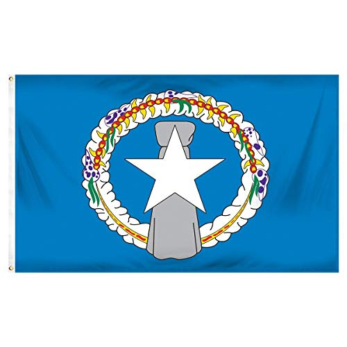 Islands Indoor Flag - ALBATROS 3 ft x 5 ft Northern Mariana Islands Nylon Poly Blend Flag Marianas for Home and Parades, Official Party, All Weather Indoors Outdoors