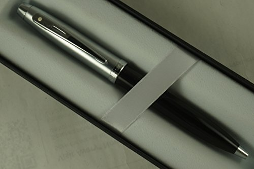 Sheaffer 100 Tuxedo with lifetime white dot of excellent and Nickel appointments Medium Ballpoint Pen Very solid and Responsive Mechanical Pen A Great Gift to Anyone.