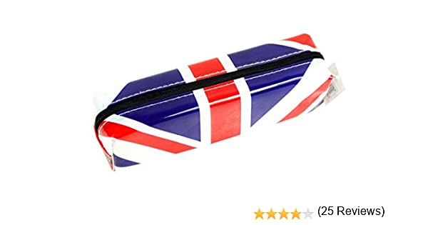 Elegante, moderno Reino Unido estuche, bandera de Inglaterra recuerdo cobrable real! Escuela aula cremallera/Speicher estudiante Souvenir/memoria! Distinctive, divertido Reino Unido/bandera británica cobrable, estuche portátil! Londres inolvidable ...