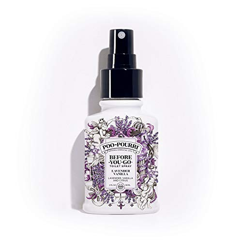 PooPourri BeforeYouGo Toilet Spray 2 oz Bottle, Lavender Vanilla Scent