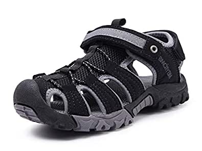 BMCiTYBM Girls Hiking Sandals Sport Outdoor Kid Boys Youth Closed-Toe Shoes Black Size: 1.5 M US Little Kid