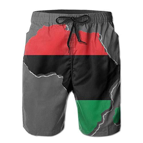 KDSG GSKD Africa Flags Map Mens Beach Shorts Swim Trunks Quick Dry Bathing Suits by KDSG GSKD