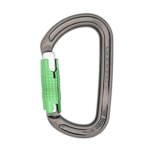 DMM Ultra D Keylock LS Carabiner, Silver with Green Gate