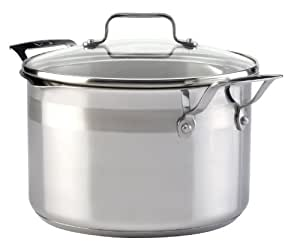 Emeril by All-Clad E88445 Restaurant Chef's Stainless Steel Dutch Oven Cookware, 5-Quart, Silver