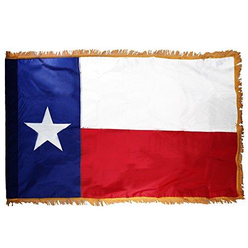 Texas 3ft x 5ft Flag, Flagpole, Base, and Tassel (Texas Star, 7 Ft Oak Pole) by US Flag Store (Image #3)