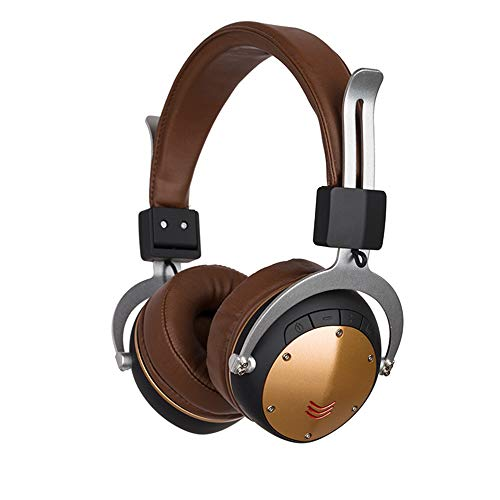 Sophia Active Noise Canceling Headphones Foldable Wireless Bluetooth Headset Built-in Microphone Hi-Fi Deep Bass Soft Memory Protein Earmuffs TF Card Headset