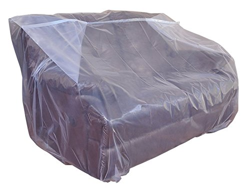 CRESNEL Furniture Cover Plastic Bag for Moving Protection and Long Term Storage (Loveseat) (Wrapping Furniture Material)