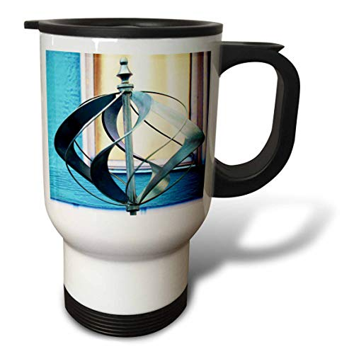 3dRose Jos Fauxtographee- Lawn Ornament - A yard ornament done in blue and crème - 14oz Stainless Steel Travel Mug (tm_317909_1)