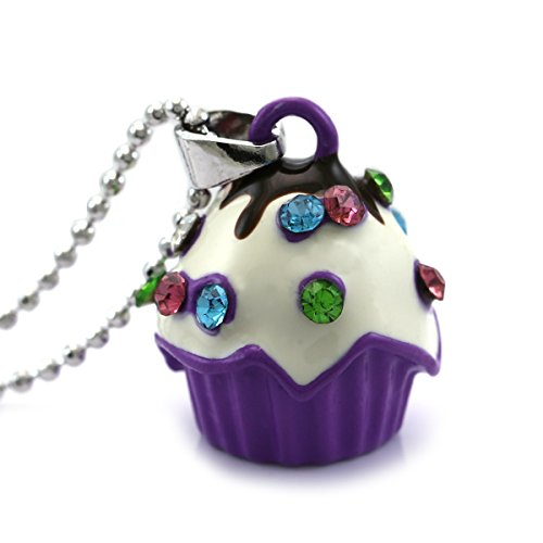 - Soulbreezecollection Lavender Purple Chocolate Cupcake Pendant Necklace Fashion Jewelry
