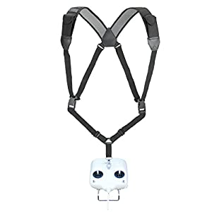 Drone RC Harness Strap Adjustable Lanyard with Comfortable Neoprene Design and Secure Metal Clip by USA Gear