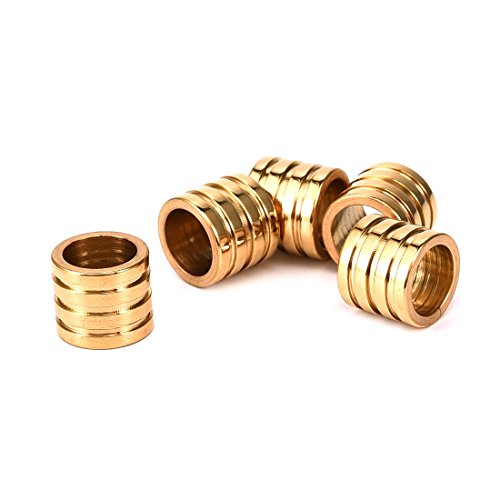 European Bead Large Hole Spacer Beads and Charms for Men and Women Jewelry Stainless Steel Bonus Spacers Gold 8mm 10Pcs