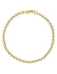 10k Yellow Gold Rolo Foot Ankle Chain Anklet, Bracelet, or Necklace