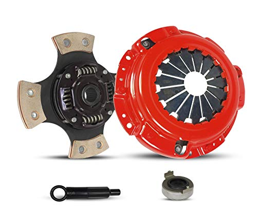 (Clutch Kit Works With Acura Cl Honda Accord Dx Ex Lx Value Package Type SH VTEC 1990-2002 2.2L l4 2.3L l4 GAS SOHC 2.2L l4 GAS DOHC Naturally Aspirated (F22; F23; 4-Puck Disc Stage 3))