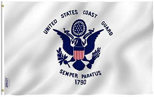 Anley Fly Breeze 3x5 Foot US Coast Guard Flag - Vivid Color
