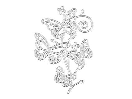 Rosetreee Molde de Cocina Creativo DIY Mariposa Corte de Metal en Relieve Molde Papel Tarjeta Plantilla