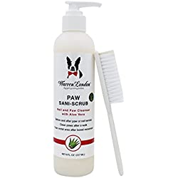 Warren London - Sani-Scrub Paw and Body Natural Anti-Fungal and Microbial Cleanser with PCMX and Aloe Vera, With Scrubbing Brush for Dirty Coats and Paws for Dogs, Cats and Horses - 8 Fl. Oz