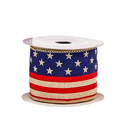 Rustic American Flag Patriotic Ribbon - 2 1/2