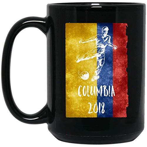 Columbian Football 2018 Gift Columbia Soccer Jersey 15 oz. Black Mug 17102018