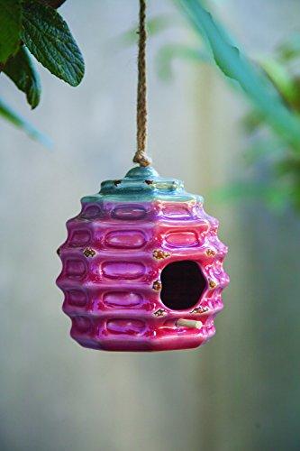Ceramic Birdhouses - MW Ceramic Beehive Birdhouse 4.75X4.75X5