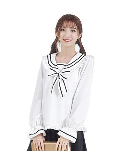 Lemail-Girls-Kawaii-School-Uniform-Long-Sleeve-Japanese-Sailor-Uniform-Shirt