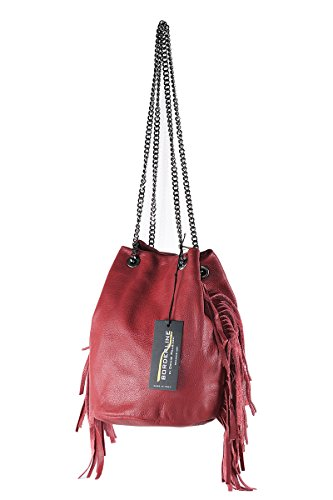 Sac BORDERLINE 100 in Bucket Cuero Rouge Femme Italy in GIULIA Made BYWxdqY